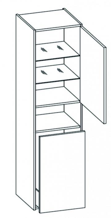Badmöbel Pelipal Fokus 3050 Wäschehochschrank