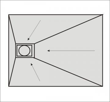 Befliesbares Duschelement 150 x 90 cm Ablauf seitlich