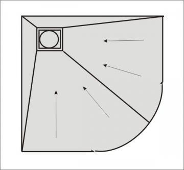 Befliesbares Duschelement variabel 110 - 120 cm Ablauf seitlich