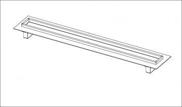 Duschrinne Rinnenkörper 90 cm