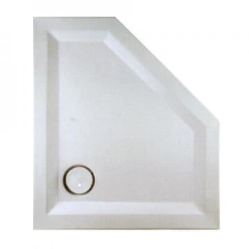 Mauersberger Circi Duschwanne Fünfeck 100x80 cm | Superflach