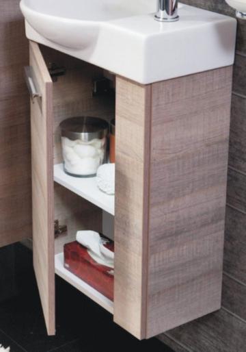 Fackelmann A-Vero Gäste-WC Waschtischunterschrank 45 cm
