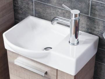 Fackelmann A-Vero Gäste-WC Keramikbecken 45 cm Links