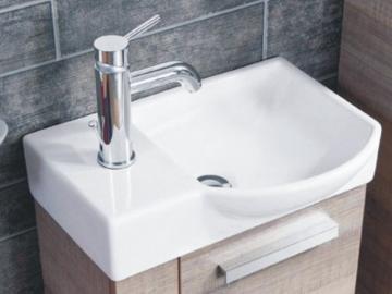 Fackelmann A-Vero Gäste-WC Keramikbecken 45 cm Rechts