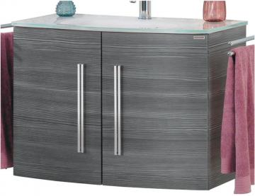 Fackelmann Lugano Pinie Waschtischunterschrank mit 2 Türen