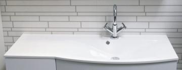 Fackelmann Lugano Weiß Waschtisch Mineralguss rechts 115 cm