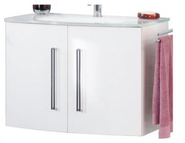Fackelmann Lugano Weiß Waschtischunterschrank mit 2 Türen