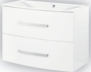 Fackelmann Lugano Weiß Waschtischunterschrank mit 2 Auszügen