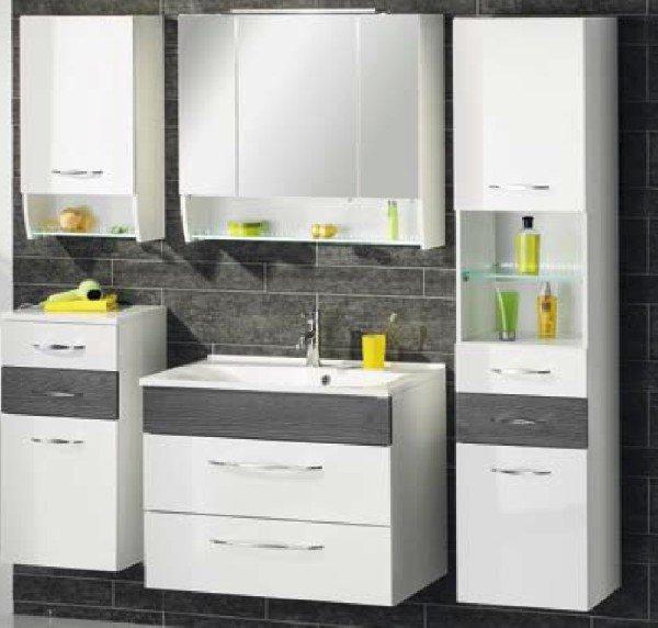 sceno hochschrank badschrank g nstig. Black Bedroom Furniture Sets. Home Design Ideas