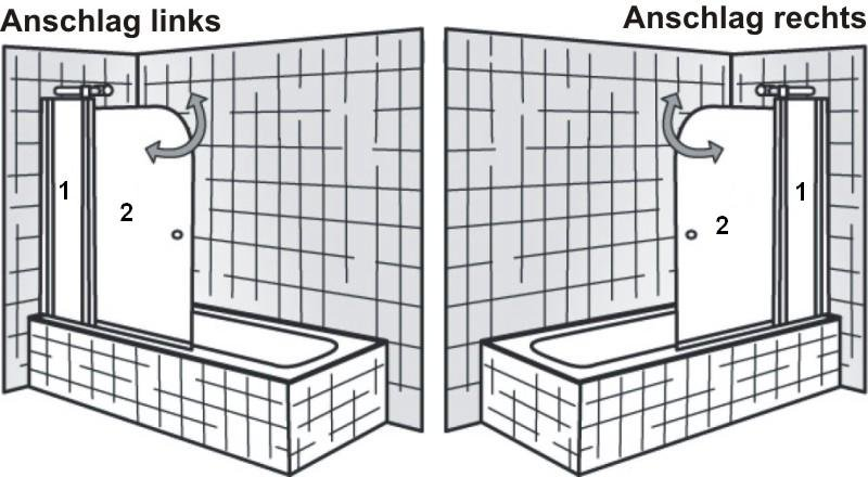 hsk badewannenaufsatz exklusiv variante b 2 teile arcom center. Black Bedroom Furniture Sets. Home Design Ideas