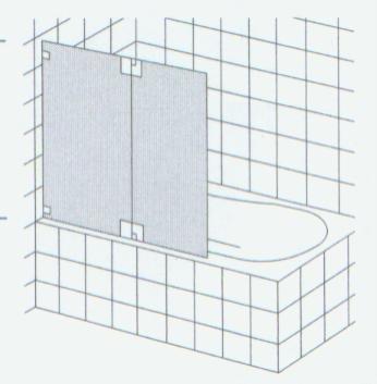 HSK Badewannenaufsatz Kienle Variante A + 2 Teile