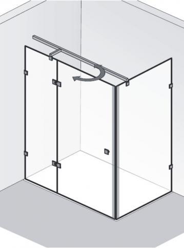 HSK Duschkabine Atelier Pur D Rechteck Dusche | Drehtür pendelbar