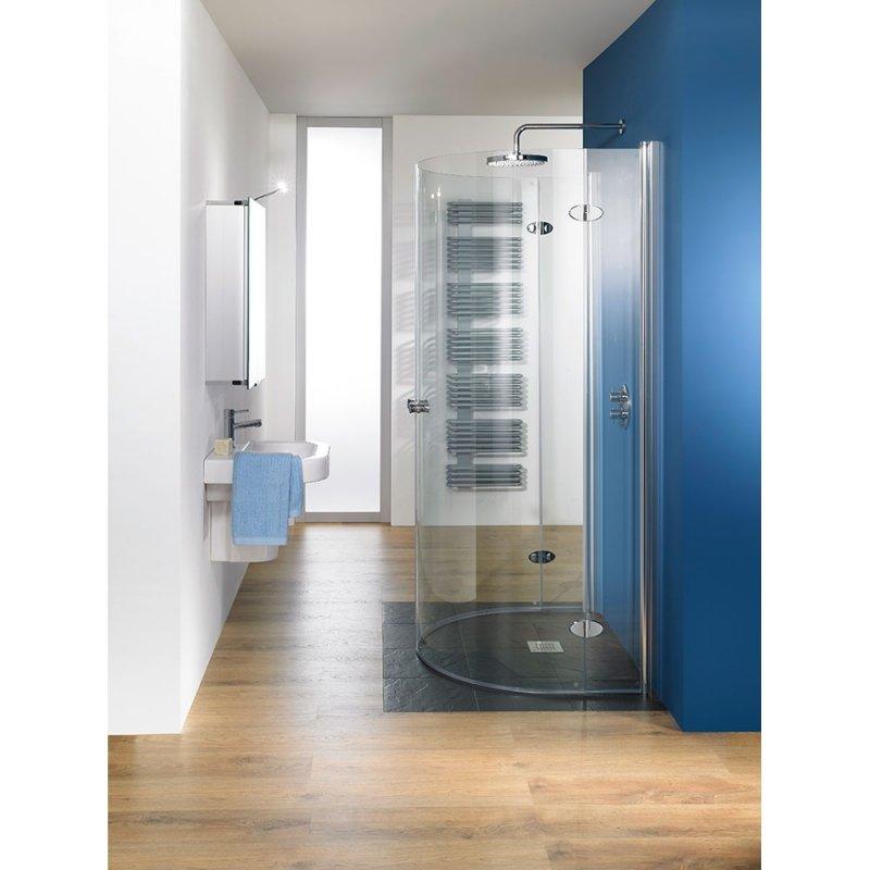 hsk duschkabine exklusiv b halbkreisdusche drehfaltt r 2 drehelemente arcom center. Black Bedroom Furniture Sets. Home Design Ideas
