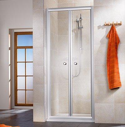 falttr duschkabine space one 90 x 75 x 195 cm ohne duschtasse ... - Dusche Klapptur