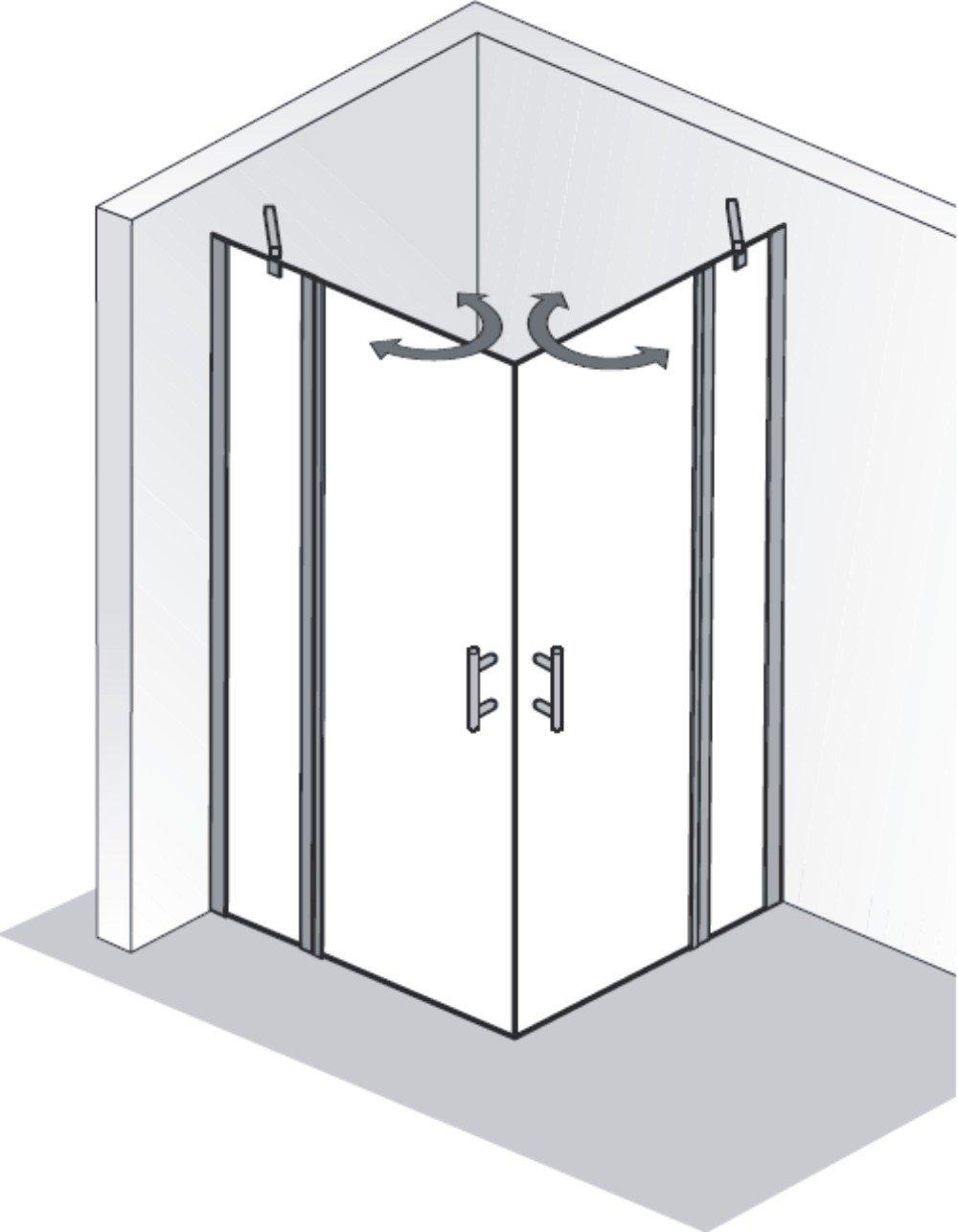 hsk duschkabine favorit nova b eckdusche 2 pendelt ren arcom center. Black Bedroom Furniture Sets. Home Design Ideas