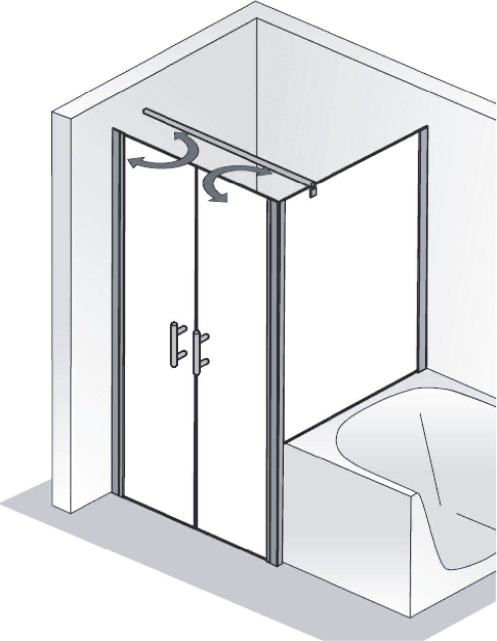 hsk duschkabine favorit nova e rechteck dusche pendelt ren verk rzte seitenwand arcom center. Black Bedroom Furniture Sets. Home Design Ideas