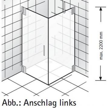 HSK Duschkabine K2 Variante B Rechteck Dusche | Drehtür