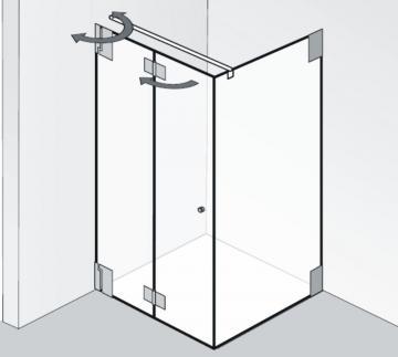 HSK Duschkabine K2 Variante F Rechteck Duschkabine | Klapptüren