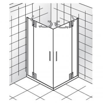 HSK Duschkabine K2P Variante B | Eckdusche + Drehtüren