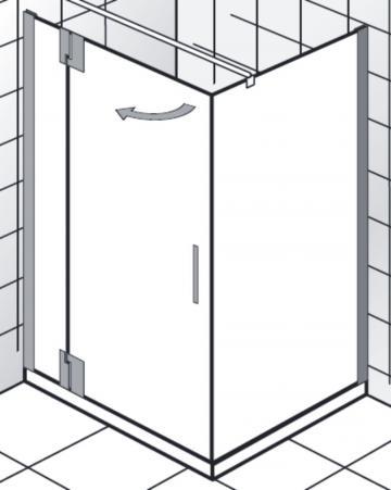 HSK Duschkabine K2P Variante C | Drehtür