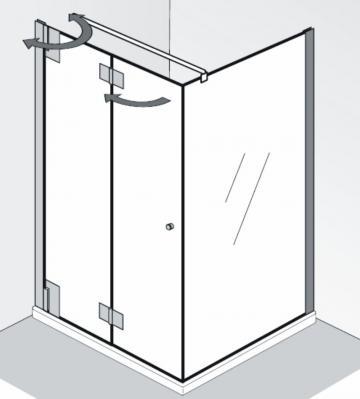HSK Duschkabine K2P Variante D | Drehfalttür