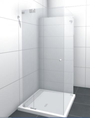 HSK Duschkabine Kienle C Rechteck Dusche + Drehtür