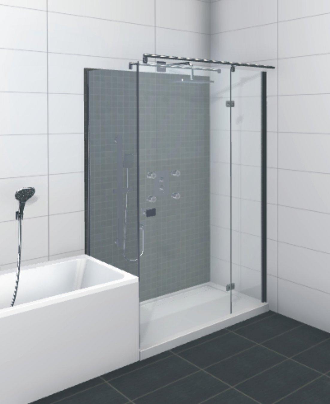 hsk duschkabine premium softcube c rechteck dusche dreht r verk rzte seitenwand arcom center. Black Bedroom Furniture Sets. Home Design Ideas