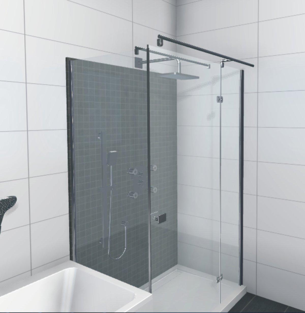 hsk duschkabine premium softcube d rechteck dusche verk rzte seitenwand arcom center. Black Bedroom Furniture Sets. Home Design Ideas
