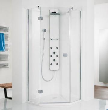 HSK Duschkabine Premium Softcube Fünfeck Dusche | Drehtür