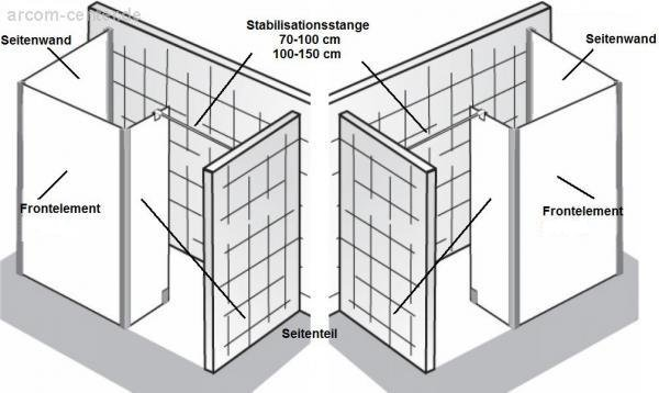 hsk duschkabine walk in atelier sonderma 17005 arcom center. Black Bedroom Furniture Sets. Home Design Ideas