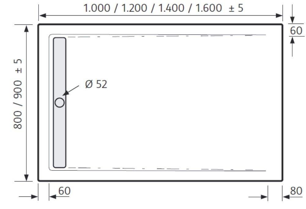 hsk duschwanne 90 120 cm rechteck 5425120. Black Bedroom Furniture Sets. Home Design Ideas