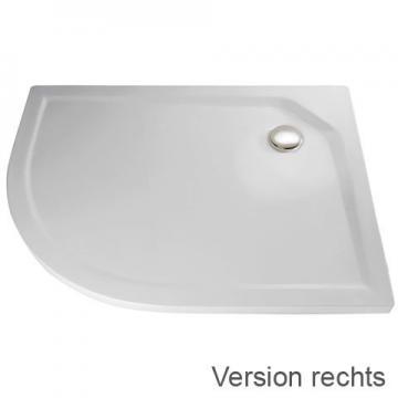 HSK Duschwanne Viertelkreis asymmetrisch 90 x 80 cm