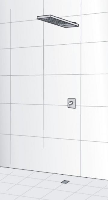 HSK Lavida Plus Regentraverse mit Schwallbrause freihängend