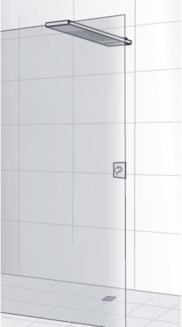 HSK Lavida Plus Regentraverse mit Schwallbrause für Glasaufnahme