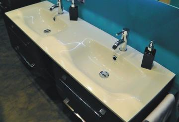 Marlin Bad 3130 - Azure Doppel Waschtisch | 140 cm