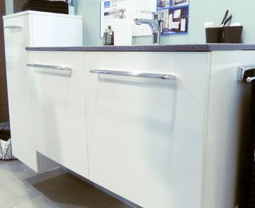 Marlin Bad 3020 - Life Waschtischunterschrank 80 cm | 2 Türen für Keramik Waschtisch
