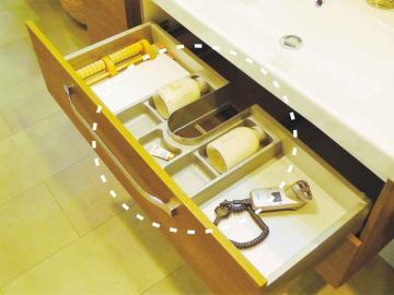Marlin Bad 3030 - Christall | Schubkasteneinsatz für WT-Unterschrank