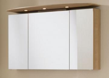 Marlin Bad 3040 - City plus Spiegelschrank B | LED Spot | runder Oberboden 90 cm