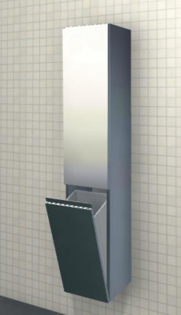 Marlin Bad 3090 - COSMO | Hochschrank 1 Tür 1 Wäschekippe 40 cm
