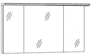 Marlin Bad 3090 - COSMO Spiegelschrank 120 cm | Acryloberboden