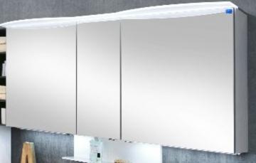 Marlin Bad 3090 - COSMO Spiegelschrank 150 cm | Acryloberboden