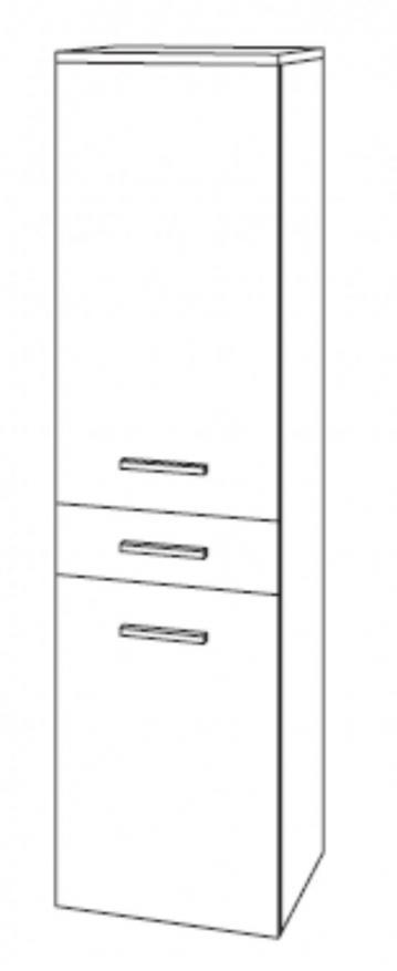 Marlin Bad 3100- Scala | Mittelschrank + 2 Türen + 1 Auszug