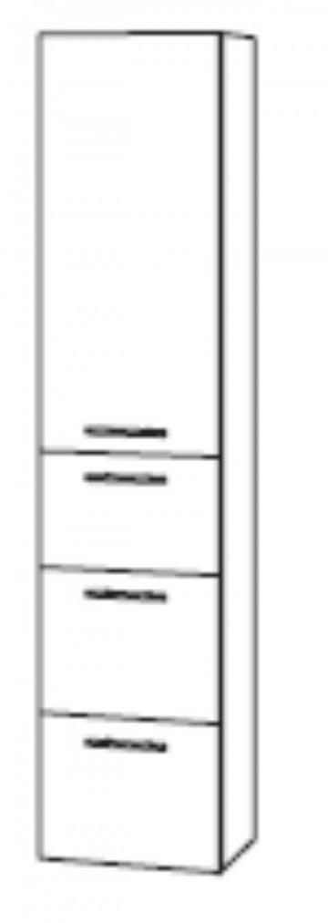 Marlin Bad 3100 - Scala Hochschrank | 40 cm + 1 Tür + 3 Auszüge
