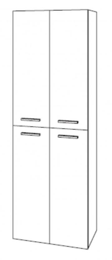 Marlin Bad 3100 - Scala Hochschrank | 60 cm + 4 Türen