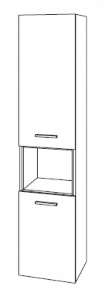 Marlin Bad 3100 - Scala Hochschrank | 40 cm + 2 Türen + 1 Regal