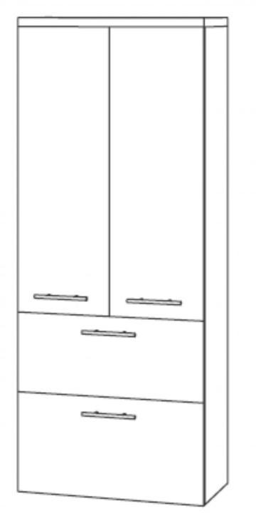 Marlin Bad 3100 - Scala Mittelschrank | 60 cm + 2 Türen + 2 Auszüge