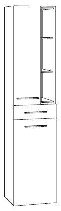 Marlin Bad 3160 - Motion | Hochschrank 40 cm 1 Tür | Einschubregal