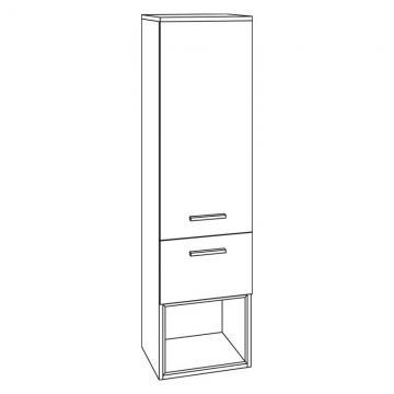Marlin Bad 3160 - Motion | Mittelschrank 40 cm 2 Türen | + 1 Einschubregal unten