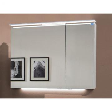 Marlin Bad 3160 - Motion Spiegelschrank A 90 cm Rechts + Aufsatzleuchte