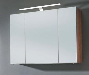 Marlin Bad 3030 - Christall Spiegelschrank B 100 cm + Doppelspiegeltüren